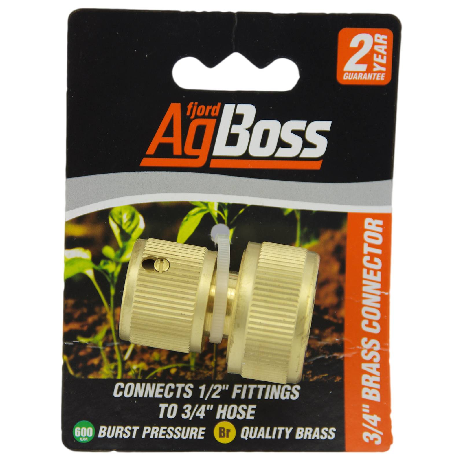 "AgBoss 3/4"" Brass Hose Connector Fitting"