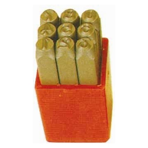 KC Tools 9-Pc 5.0mm Number Punch Set