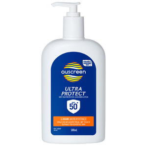 Auscreen Ultra Protect Sunscreen Lotion SPF 50+ 500ml