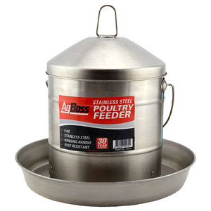 AgBoss Galvanised Poultry Feeder No.9