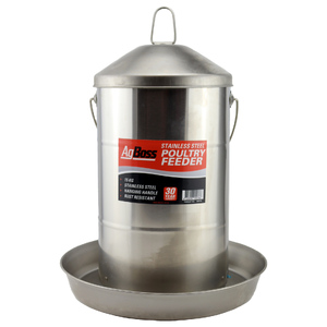 AgBoss 15kg Galvanised Poultry Chook Feeder