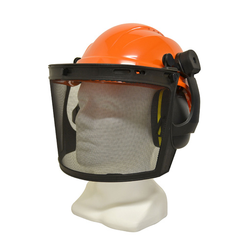 Maxisafe Professional Forestry Kit with Muffs, Mesh Visor and Orange Hard Hat