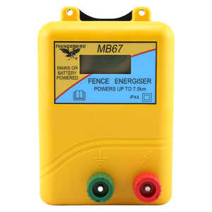 Thunderbird MB67 7.5km Mains Battery Electric Fence Energiser
