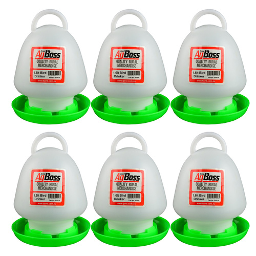 AgBoss 6 Pack 1.6L Chicken / Bird / Poultry Drinkers
