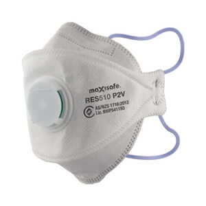 Maxisafe P2V 20 Box Flatfold Wrap-Around Respirator Mask