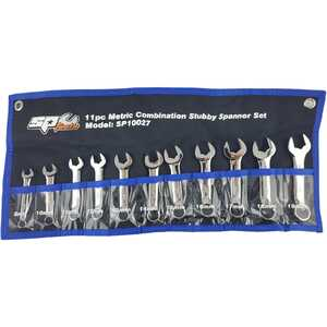 SP Tools 11pc Metric Combination Stubby Spanner Set