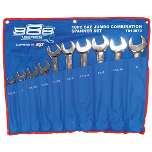 888 Tools 10pc Imperial SAE Jumbo Spanner Set